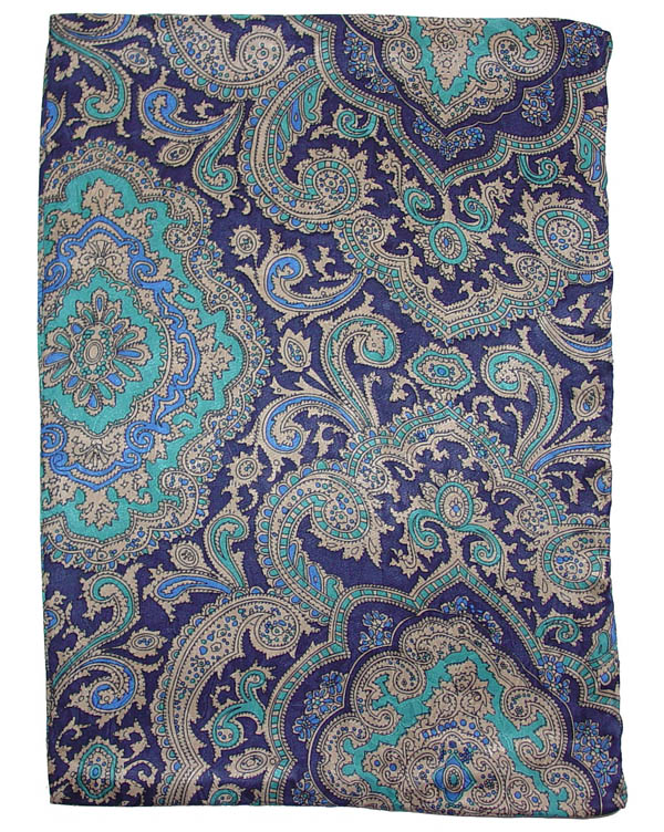 Paisley Blue/Gold