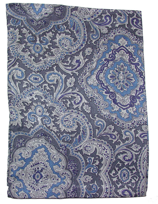 Paisley Blue/Silver