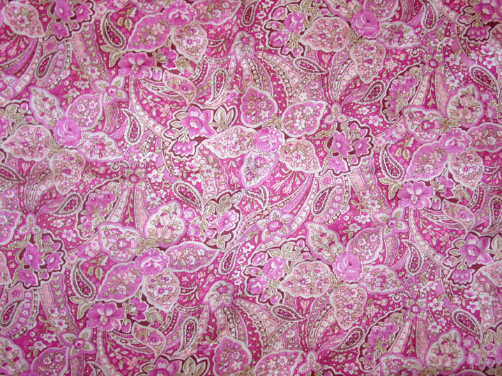 Pink Floral Paisley Frontier Calico Scarf