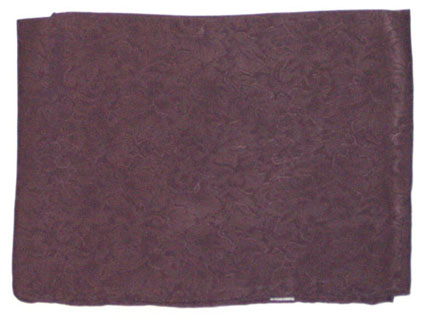 Jacquard Chocolate Silk Scarf