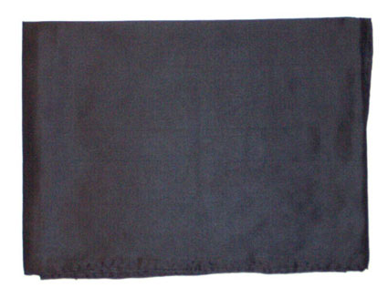 42 Inch Black Solid Silk Scarf