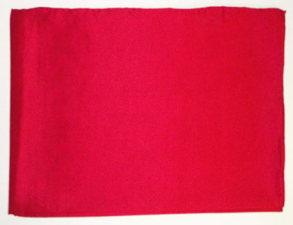 42 Inch Red Solid Silk Scarf