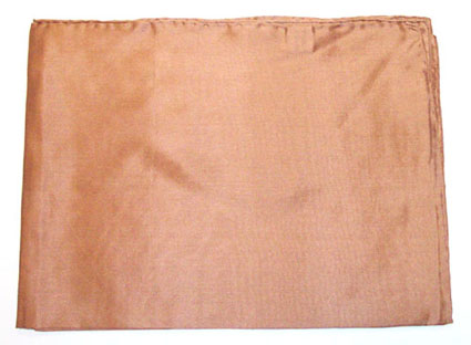 Solid Tan Silk Scarf