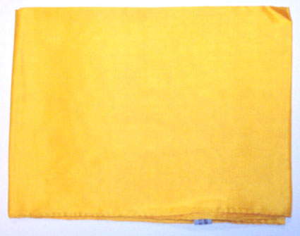 Solid Yellow Silk Scarf